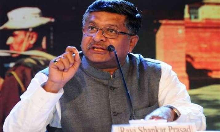 mobile towers no health threat ravi shankar prasad