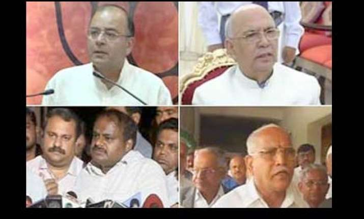 bjp leaders meet pm demand bhardwaj s recall
