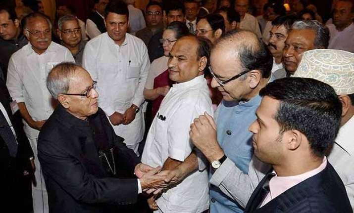 president pranab mukherjee hosts iftar pm modi conspicuous