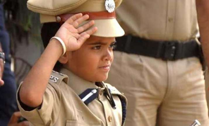 10 year old boy becomes jaipur police commissioner for a day