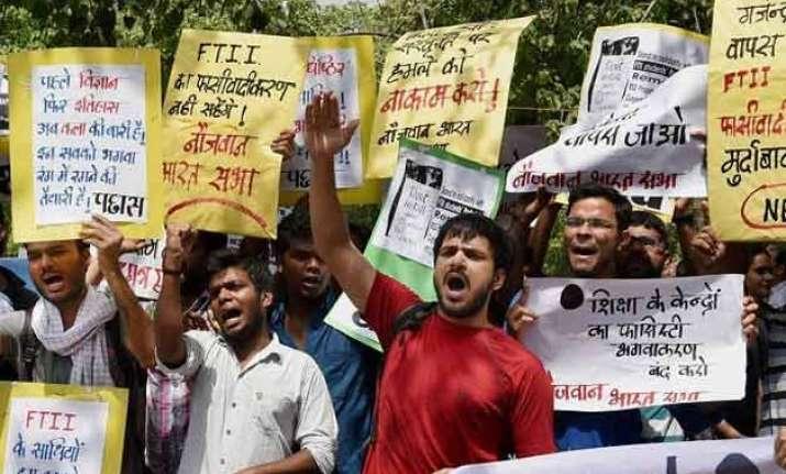 agitating ftii students govt hold talks deadlock continues