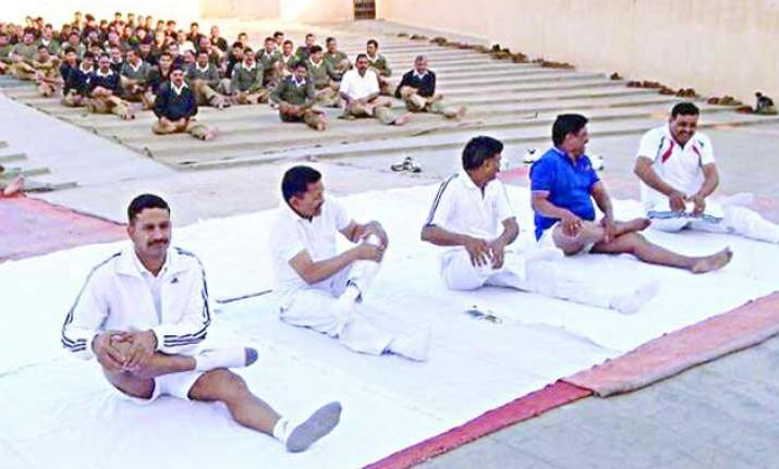 bsf starts yoga for troops to combat stress sleep deficiency