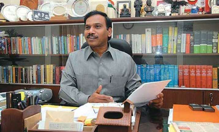 raja rules out resignation on 2g spectrum issue