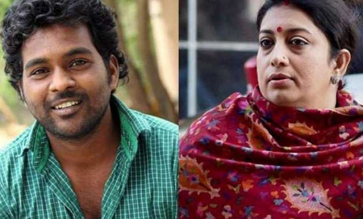 hrd minister smriti irani speaks to rohith vemula s mother