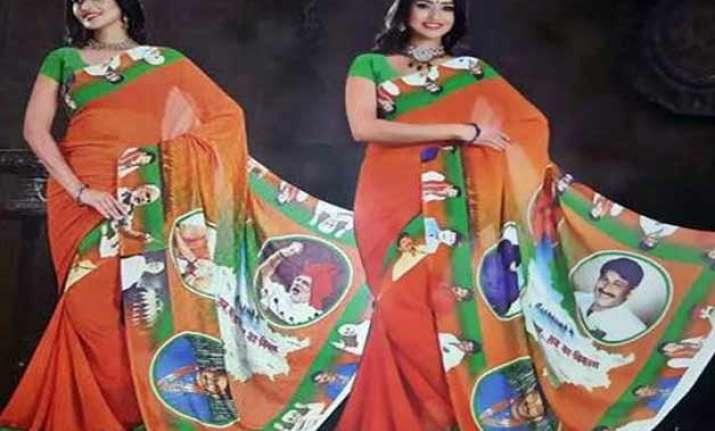 modi saris add colour to bihar election campaign