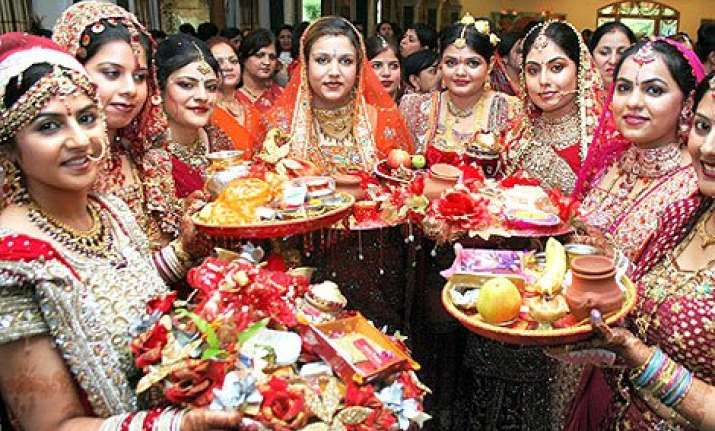 karvachauth a low key affair for women of jammu border
