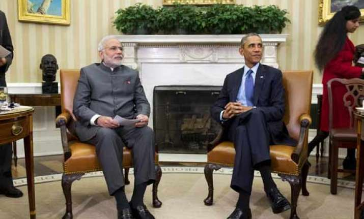 kashmir never popped up in modi obama talks says officials