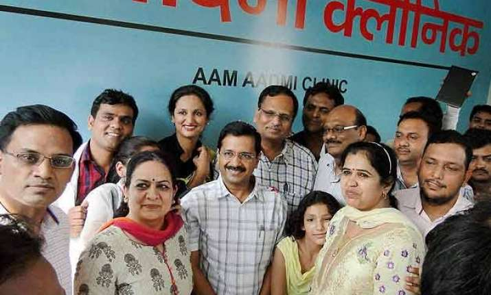 delhi gets first aam aadmi clinic cm says 1000 more in line