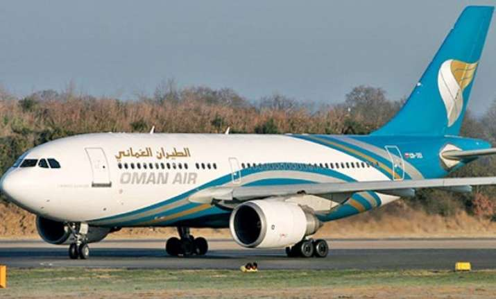 oman air flight suffers tyre burst at delhi airport