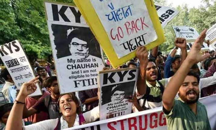 ftii students not averse to i b secy becoming chairman