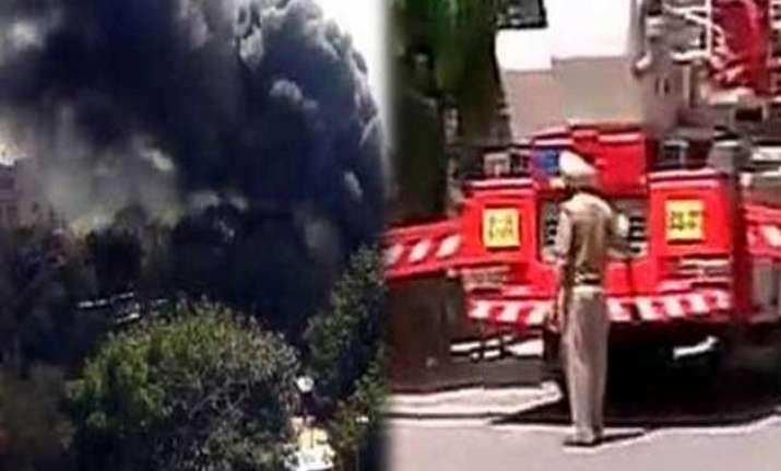 fire broke out at udyog bhawan in delhi