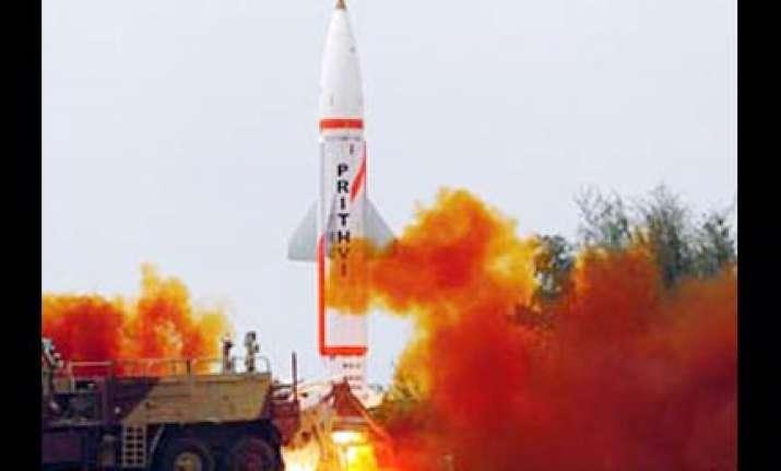 india test fires prithvi ii dhanush successfully