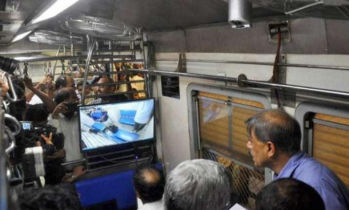 western railway installs cctv cameras suburban train coach