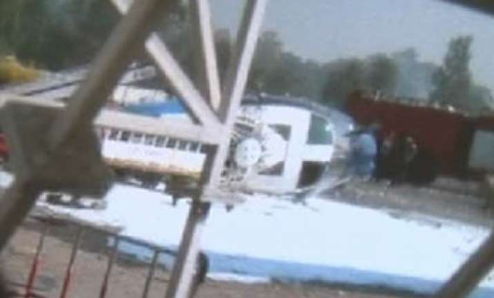 Punjab Govt Chopper Catches Fire, 2 Pilots Injured | India