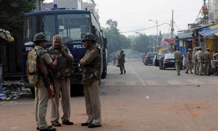 heavy police deployment in trilokpuri