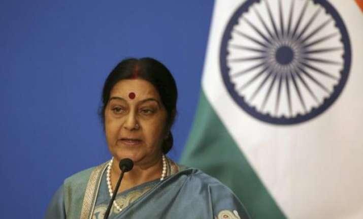 sushma swaraj asks akhilesh yadav for geeta s family photos