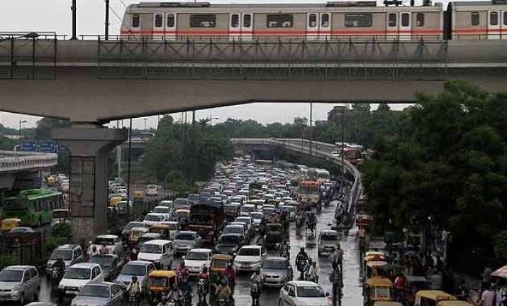 waterlogging in parts of delhi after rains