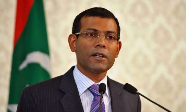 maldivian president s message addressed to international
