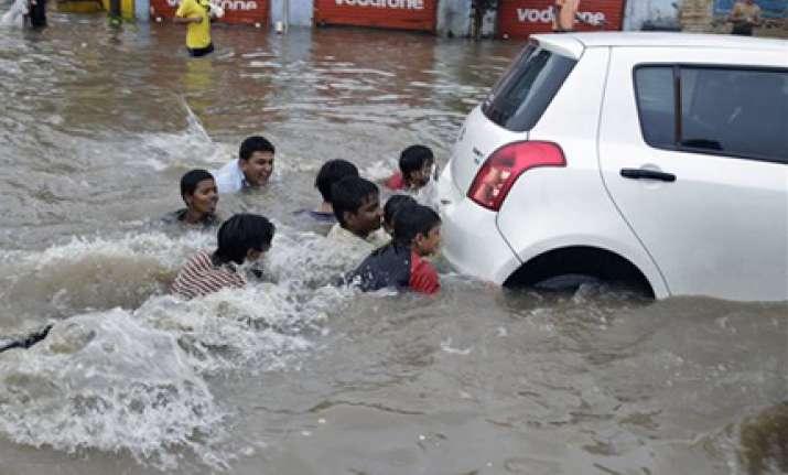 six killed as heavy rains lash ahmedabad