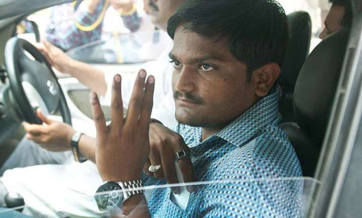quota stir leader hardik patel booked for sedition