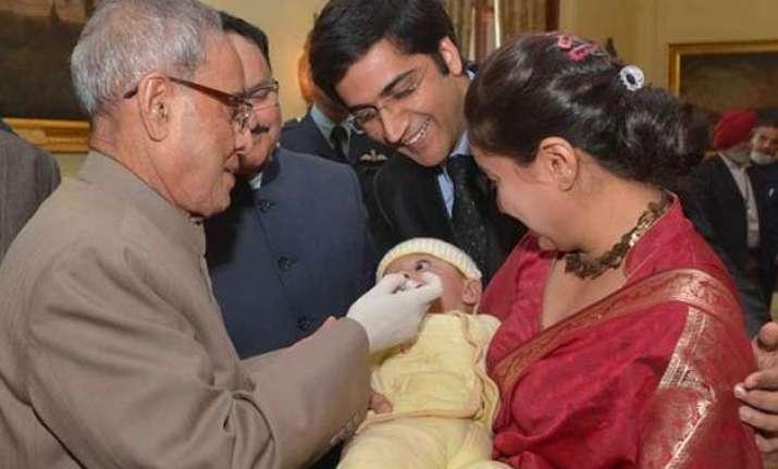president launches polio immunization programme
