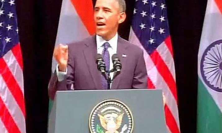 obama lauds modi says a tea seller can become pm only in