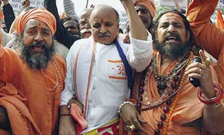 togadia arrested for trying to enter kandhamal