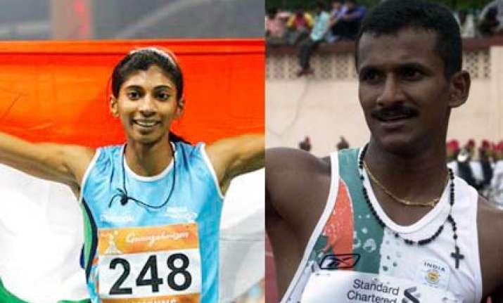 ashwini and joseph set track ablaze india win three golds