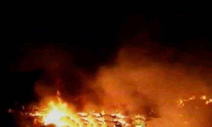 major fire in army ammunition depot in panagarh