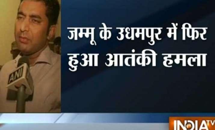 militants attack police post 2 spos injured in udhampur