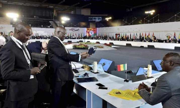 india africa summit feels tremors but meeting continues