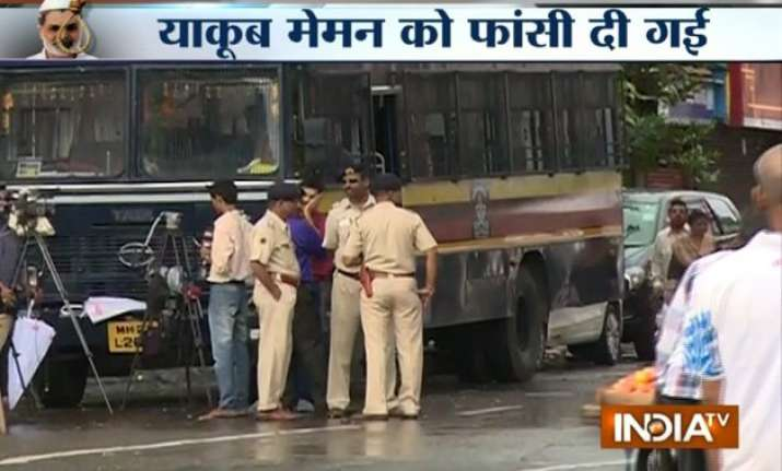 tight security in mumbai after yakub memon s execution
