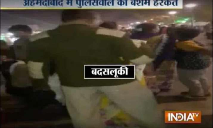 watch policeman groping girls video goes viral probe ordered
