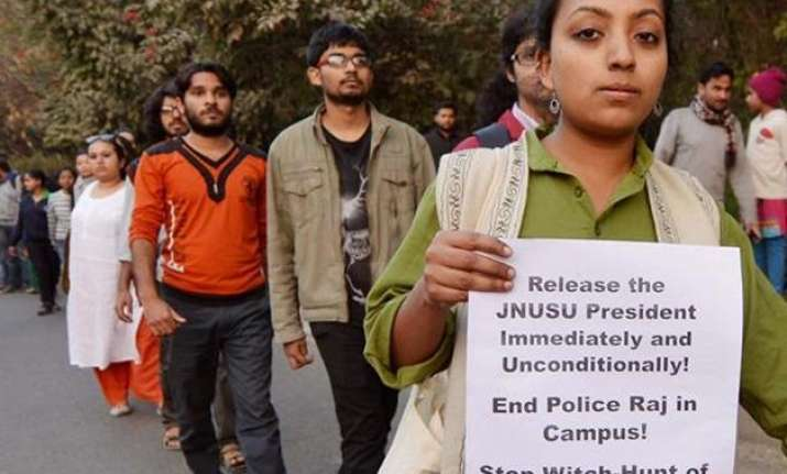 jnu teachers join student strike to take classes on