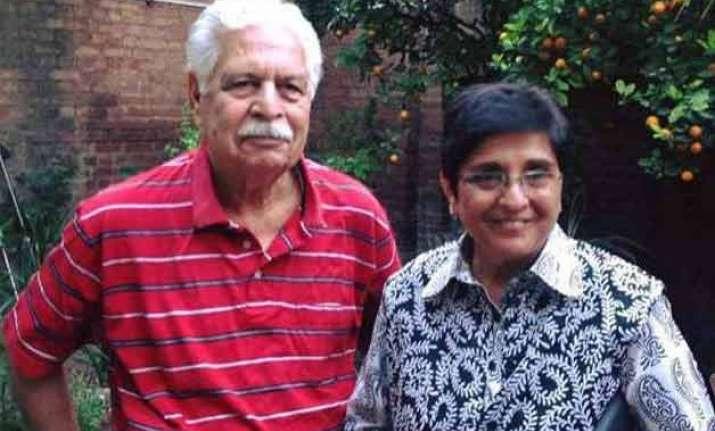 kiran bedi s husband brij bedi dies in gurgaon