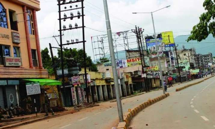 security forces stage flag march in curfew bound jamshedpur