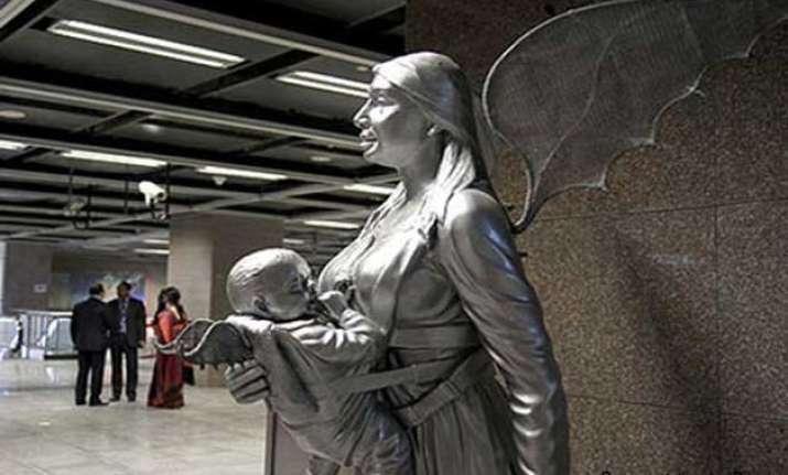 art photographs digital works at delhi metro stations