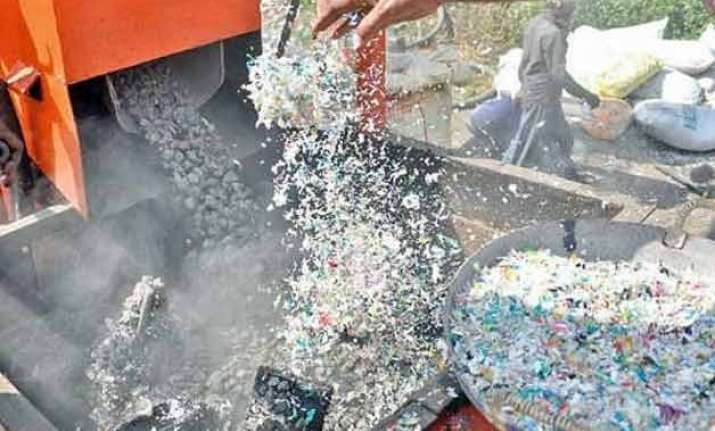 only indian city that uses waste plastic from homes for