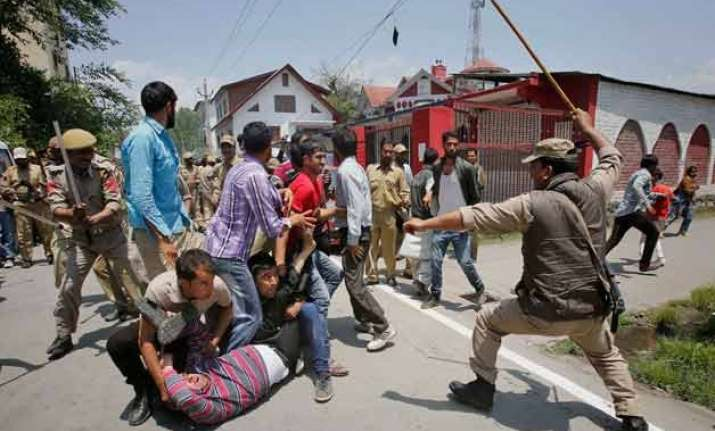 contractual employees stage protest police use force