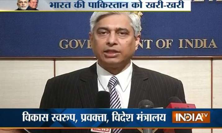 india advises pakistan against sartaz aziz meeting