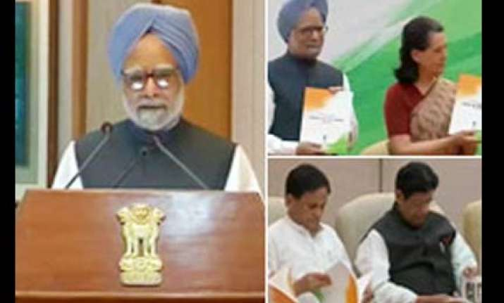 pm presents upa report card