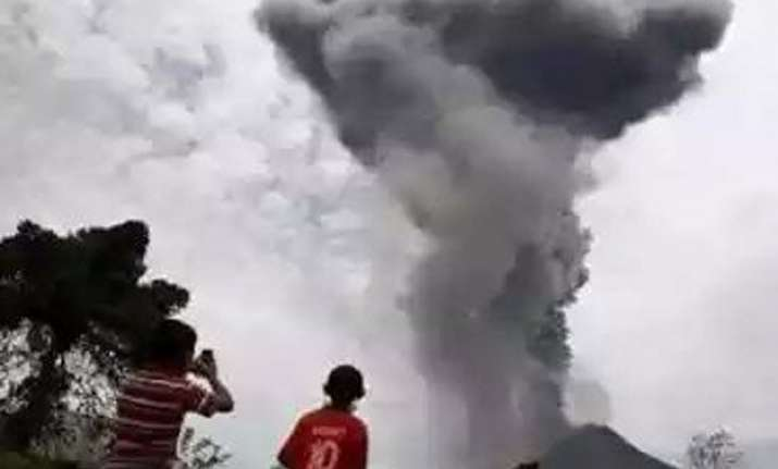 ejection of smoke and ashes trigger fear of volcanic