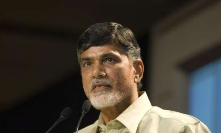hudhud ap cm partially happy with admin over relief measures
