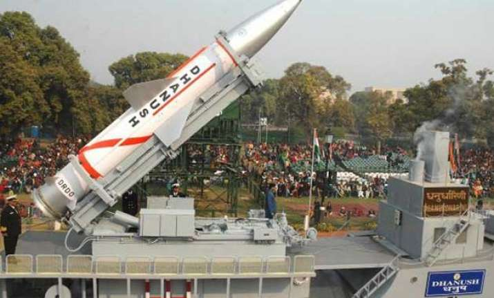 nuclear capable dhanush missile successfully test fired