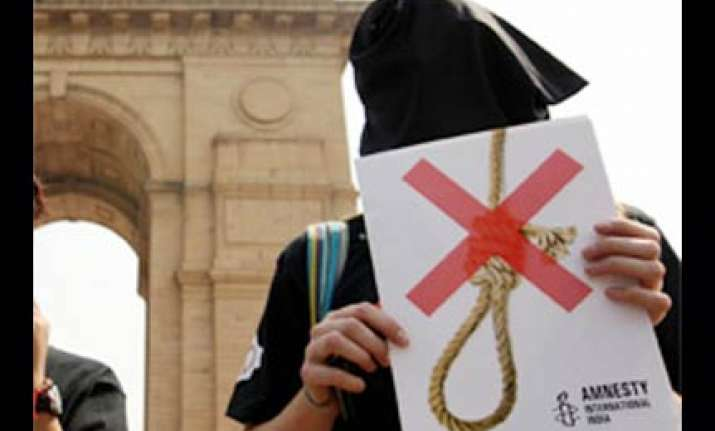 india should ban death penalty says amnesty