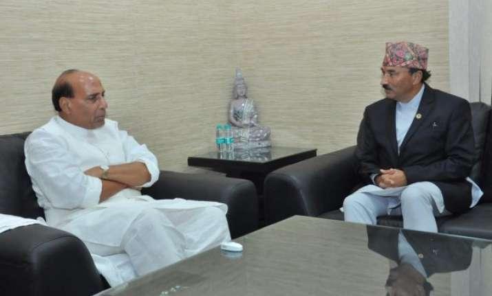 nepal s deputy pm meets rajnath singh