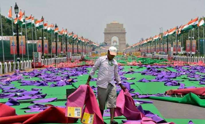 rs 92 lakh spent on mats for yoga day government