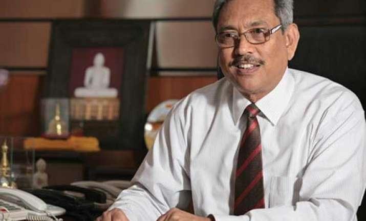 lankan defence secretary gotabaya rajapaksa meets arun