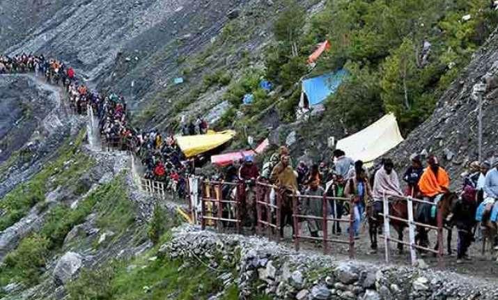 cloudburst near amarnath yatra base camp all pilgrims safe