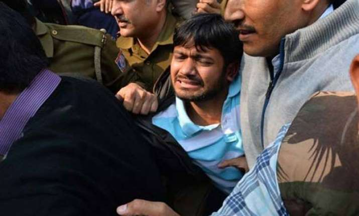kanhaiya not attacked claims delhi police centre seeks